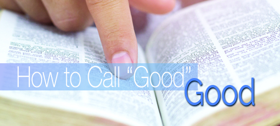 "How to Call ""Good"" Good"
